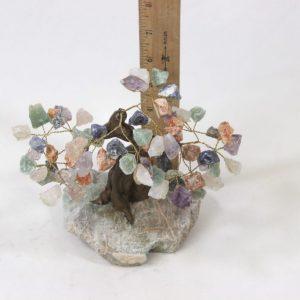 Mixed Gemstone Crystal Points Tree with Amazonite Base Medium