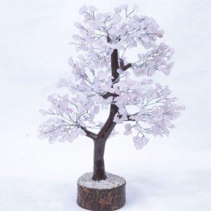 Rose Quartz Tree with Wood Base 500 chips