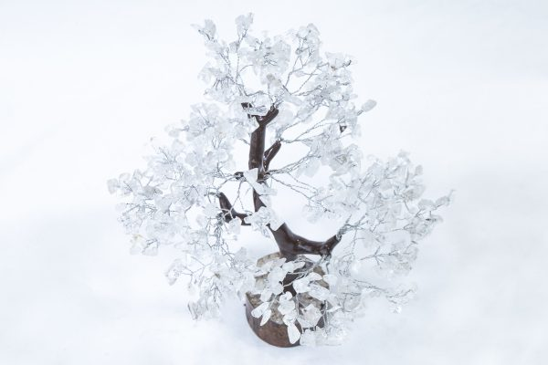 500 stone Crystal Tree with Wood Base