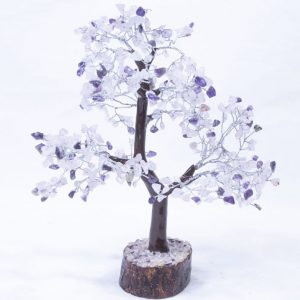 Amethyst/Rose Tree with Wood Base 500 chips