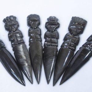Black Gold Obsidian Dagger, Paper Cutter
