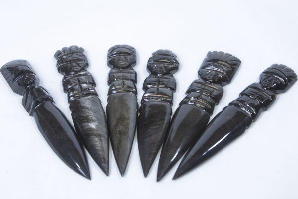 Black Gold Obsidian Dagger top view