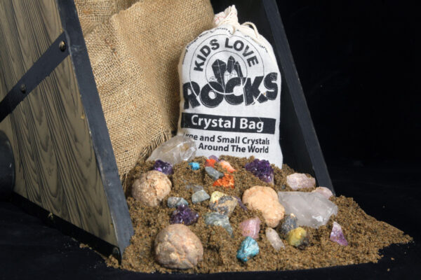 This is an image of Kids Love Rocks Crystal Bag