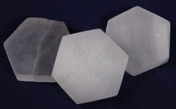Hexagon Selenite Charging Station side by side