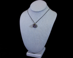 Purple Amethyst Cluster Pendant on Necklace
