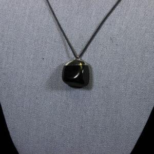 Tumbled Black Obsidian Pendant