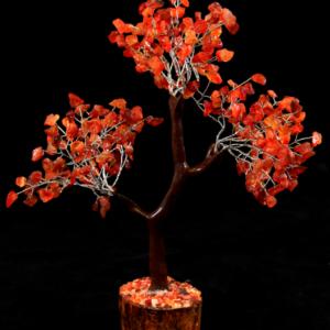 Red Carnelian 300 Chip Gemstone Tree