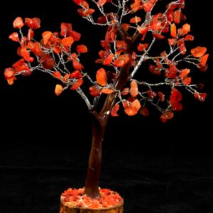 Red Carnelian 160 Chip Gemstone Tree