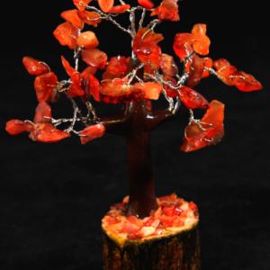 Red Carnelian 60 Chip Gemstone Tree