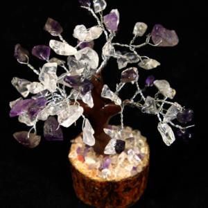 60 Chip Crystal and Amethyst Gemstone Tree