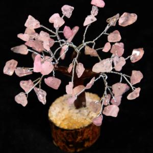 60 Chip Rose Quartz Gemstone Tree
