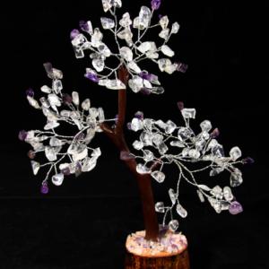 160 Gemstone Chip Crystal and Amethyst Tree