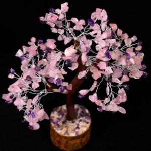 300 Rose Quartz and Amethyst Chip Tree