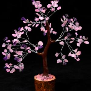 160 Rose Quartz and Amethyst Chip Tree