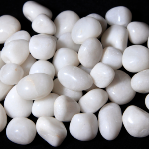 1lb Tumbled Small White Agate (19mm-25mm)