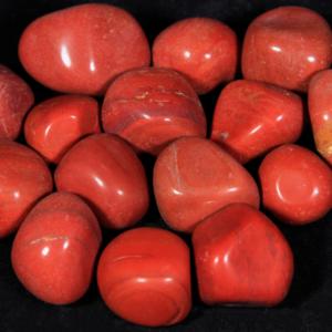 1lb of Tumbled Medium Red Jasper (26mm-32mm)