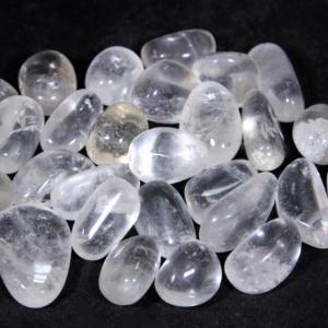 1lb of Tumbled Medium Clear Quartz (26mm-32mm)