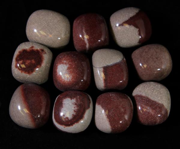 Several Medium Red Narmada Stones