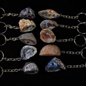 Assorted Geode Keychain