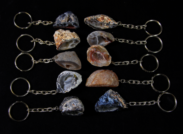 Set of Several Assorted Geode Keychains