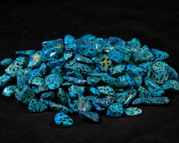 Pile of Tumbled Blue Dalmatian Jasper Stones