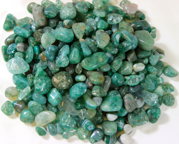Pile of Tumbled Green Glass Stones