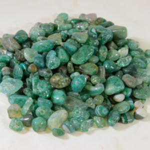 1lb of Tumbled Green Glass
