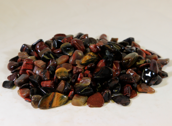 Pile of Tumbled Red Tiger Eye Stones