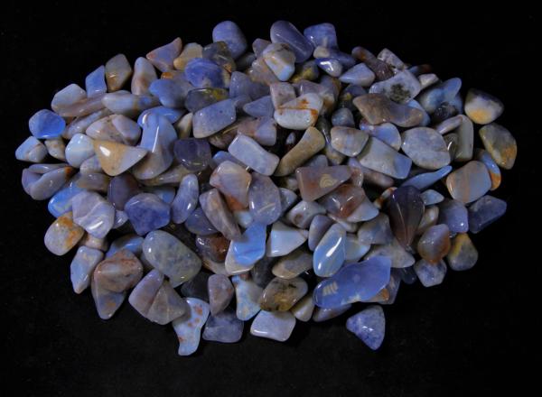 Pile of Tumbled Chalcedony Stones