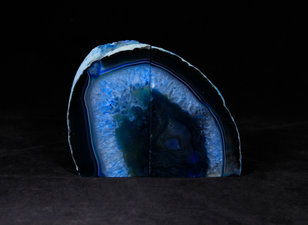Pair of Medium Blue Agate Bookends