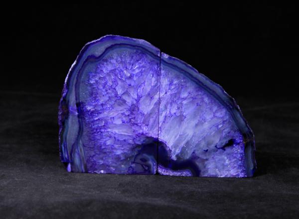 Pair of Medium Purple Agate Bookends