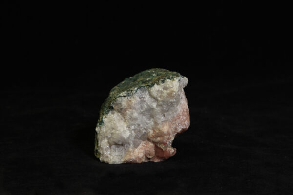 Small Pink Amethyst Crystal Cluster in green rock matrix