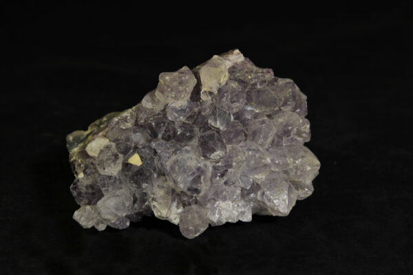 Purple Amethyst Crystal Cluster in green rock matrix