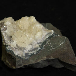 Small White Amethyst Crystal Cluster in green rock matrix