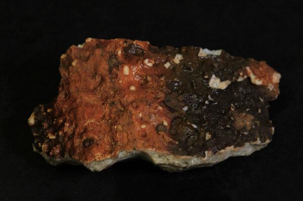 Small Yellow Amethyst Crystal Cluster in Orange rock matrix