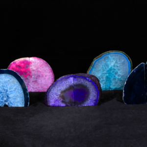 Assorted Dyed Agate Bookends, Small