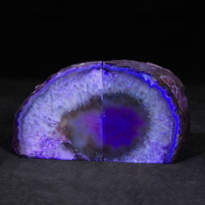 Purple Dyed Agate Bookends, Small