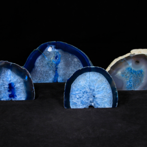 Blue Dyed Agate Bookends, Small