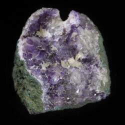 Purple and white Amethyst Crystal Cluster with green rock matrix