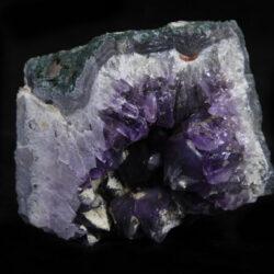 Purple Amethyst Crystal Cluster with green rock matrix