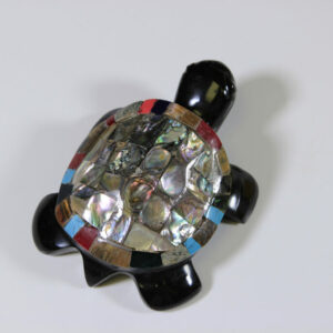 Assorted Inlaid Obsidian Turtle