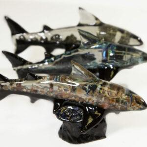 Assorted Mineral Sharks on Base