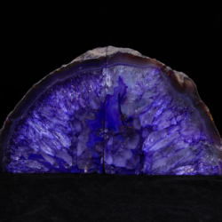 Two Matching Dark Purple Large Agate Bookends