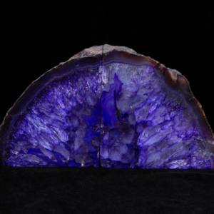 Purple Dyed Agate Bookends, Large