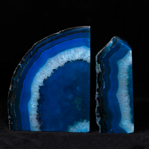Teal/Green Dyed Agate Bookends, Large