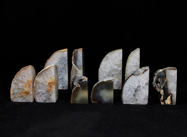 Five pairs of Small Matching Agate Gem Bookends