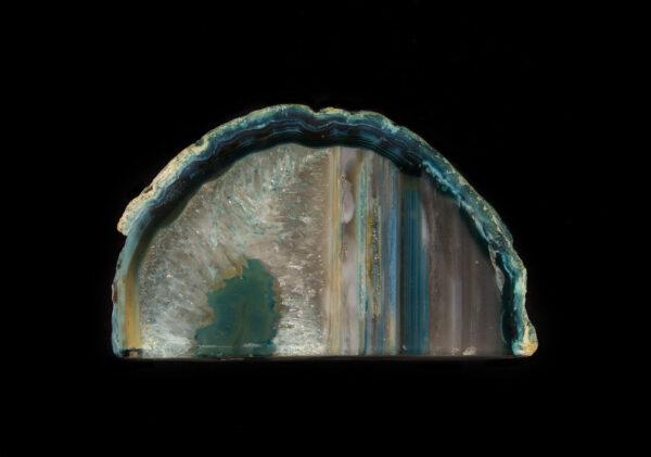 Green and Yellow Colored Agate Gem End
