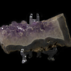 Side view of Purple Amethyst Crystal Slab