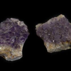Pair of Amethyst Crystal Clusters