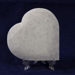 Selenite Large Flat Hearts Charging Plate